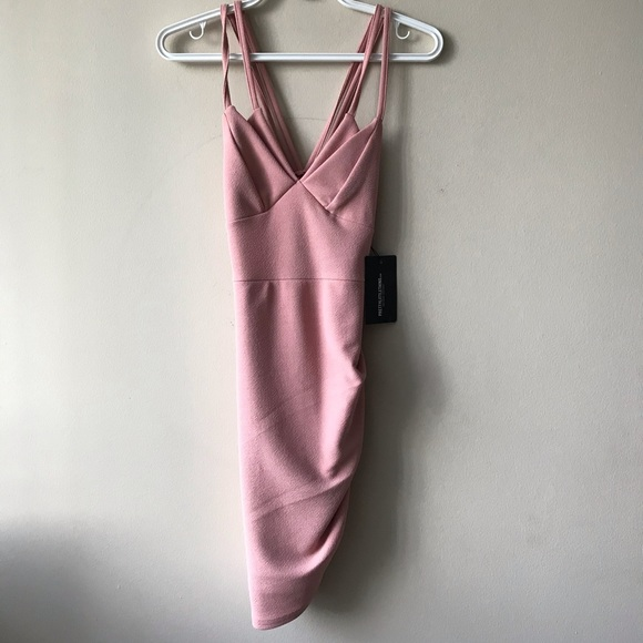 Body on dress with double straps
